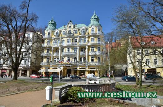 Pohled na hotel Bohemia.