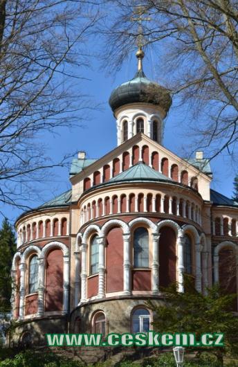 Pravoslavný kostel sv. Vladimíra.