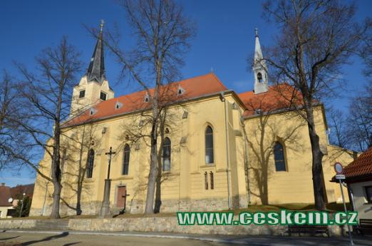 Pohled na kostel sv. Michaela archanděla.