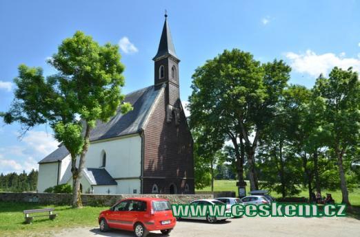 Poutní kostel ve Svatém Tomáši.