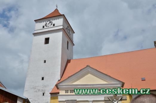 Detail kostelu sv. Václava.