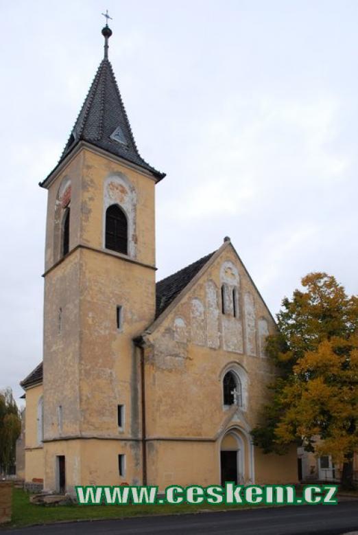 Kostel sv. Barbory z počátku 20. století.