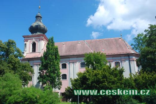 Kostel sv. Václava a Blažeje.