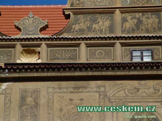 Detail fasády.