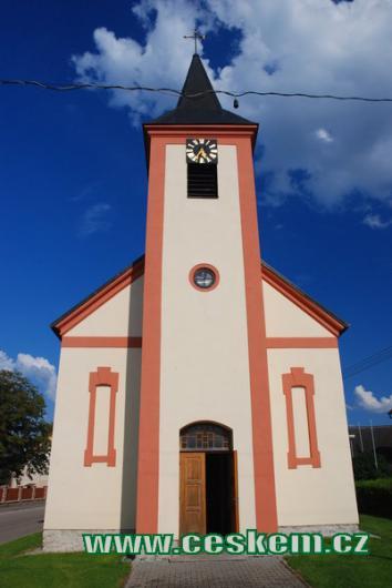 Průčelí kaple sv. Jana Křtitele.