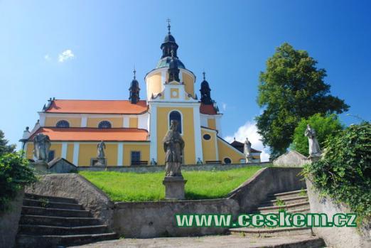 Poutní kostel Nanebevzetí Panny Marie.