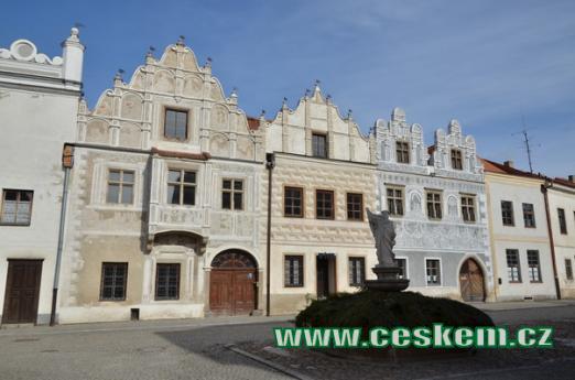 Renesanční domy na Horním náměstí.