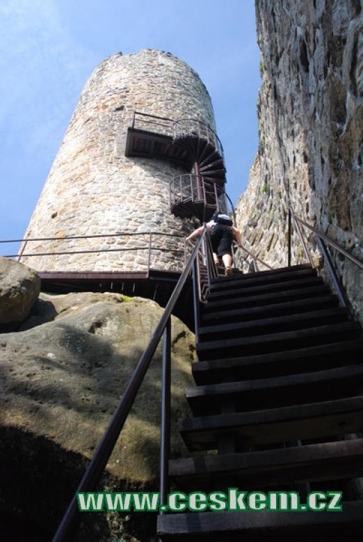 Výstup na hlavní věž.