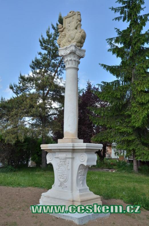Replika barokního sloupu.