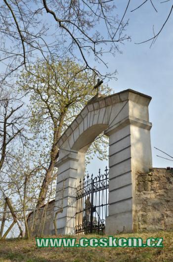 Hřbitovní brána.
