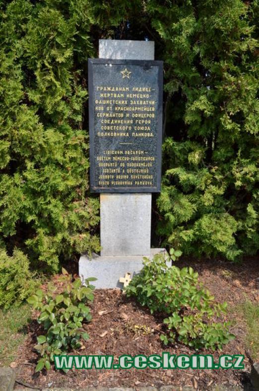 Památník lidickým občanům.