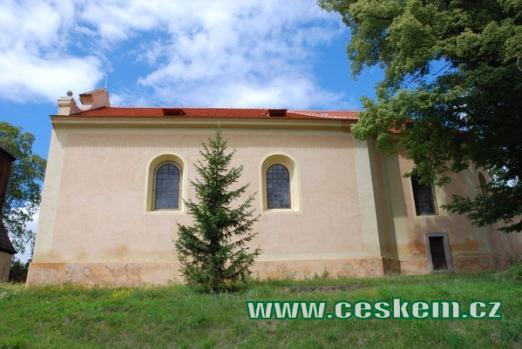 Zdejší kostel svatého Jakuba Většího.