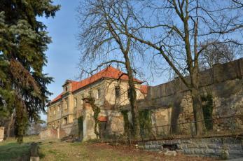 Zámek Zvoleněves na Kladensku - Pohled od severozápadu.