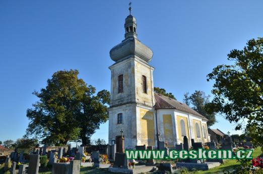 Kostel sv. Havla na hřbitově.