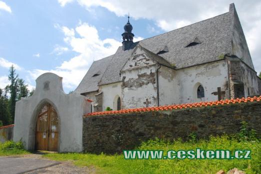 Dějiště básně Svatební košile od K. J. Erbena - kostel sv. Máří Magdalény.