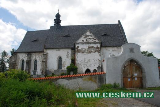 Dějiště básně Svatební košile - kostel sv. Máří Magdalény.