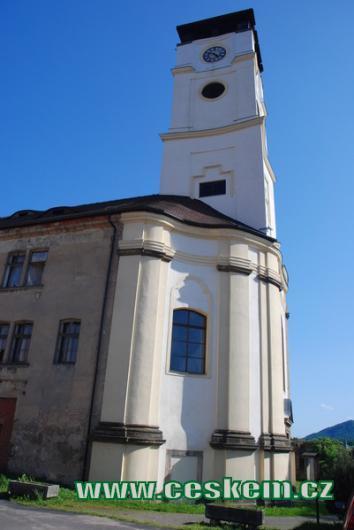 Vyhlídková věž – bývalý kostel Narození Panny Marie.