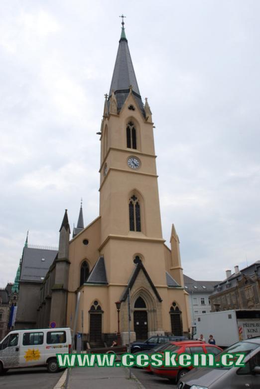 Pohled na kostel sv. Antonína Velikého.