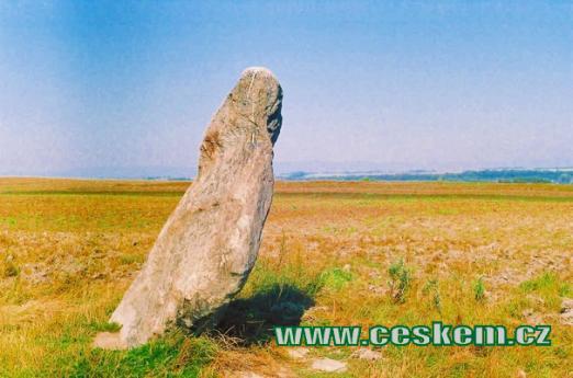 Menhir Zakletý mnich u vísky Drahomyšl.