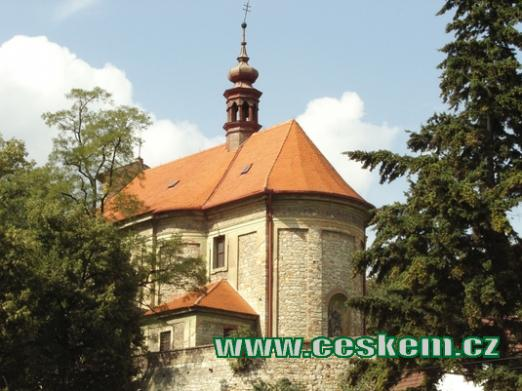 Kostel sv. Jakuba z roku 1724.