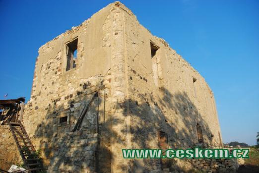Ruiny zámku na severu Lounska.