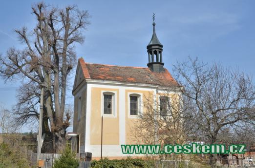 Kaple sv. Blažeje u dávné studánky.