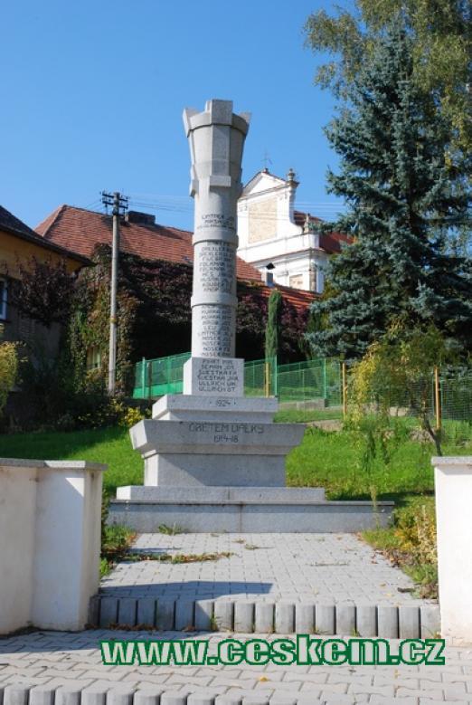 Památník obětí světové války.