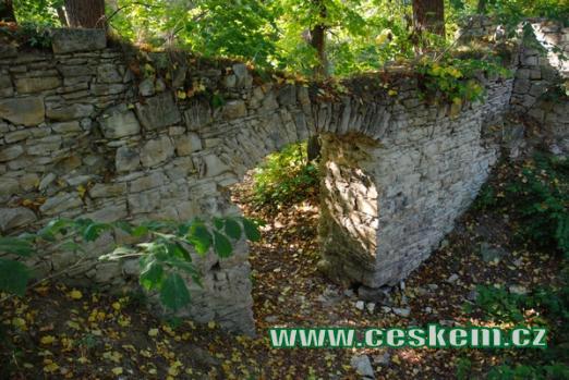 Dávná hradní brána.