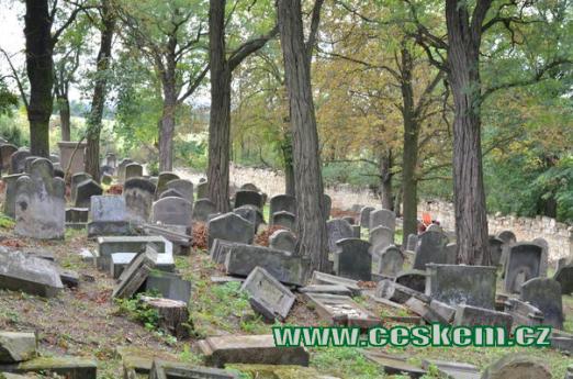 Pohled na hřbitov.