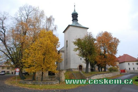 Gotický kostel svatého Matouše.