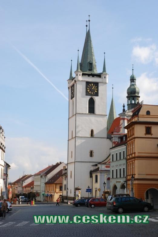Městská věž na Mírovém náměstí.