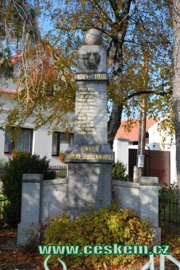 Památník padlým za 1. světové války..