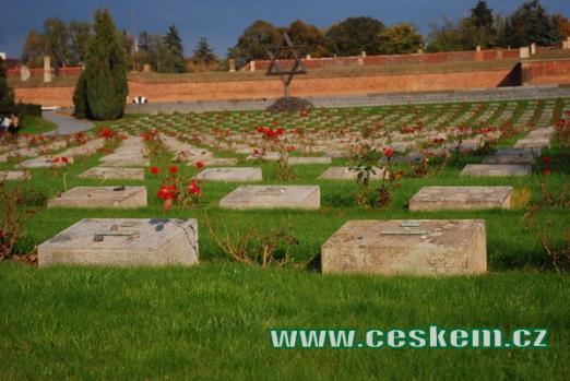 Náhrobky na zdejším Národním hřbitově.
