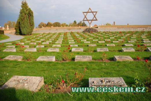Terezínský Národní hřbitov.