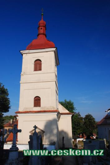 Věž kostela sv. Václava.