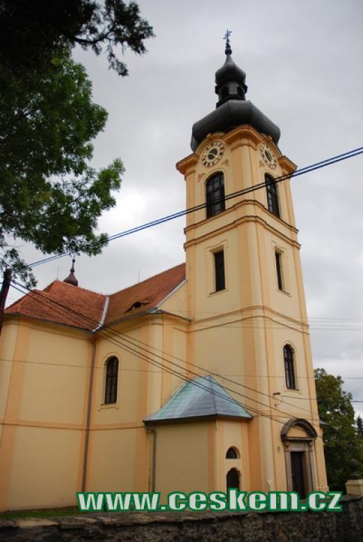 Kostel sv. Mikuláše z roku 1710.