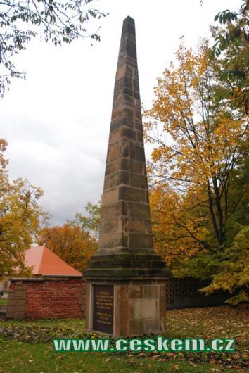 Obelisk z roku 1815.