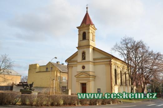 Kostel Nejsvětější srdce Páně.