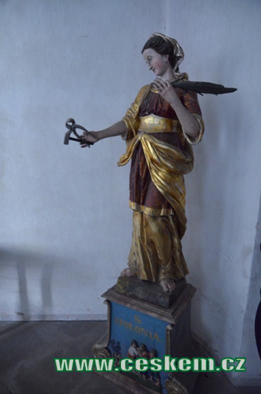 Svatá Apollonia, patronka zubařů.