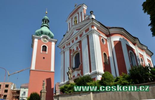 Pohled na kostel sv. Jakuba Většího
