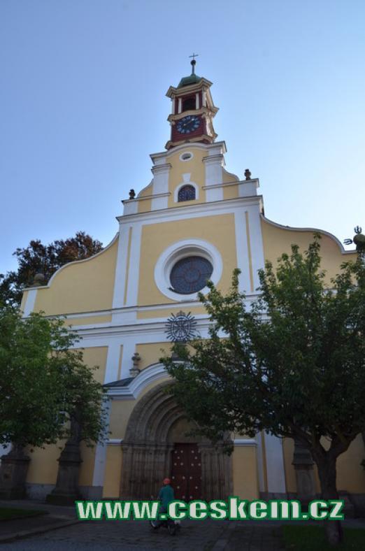 Kostel Nanebevzetí Panny Marie.