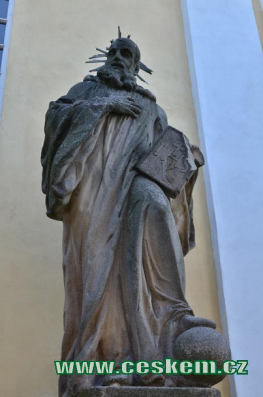 Socha sv. Benedikta.