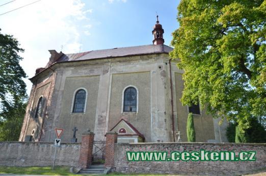 Pohled na kostel sv. Jakuba Většího.