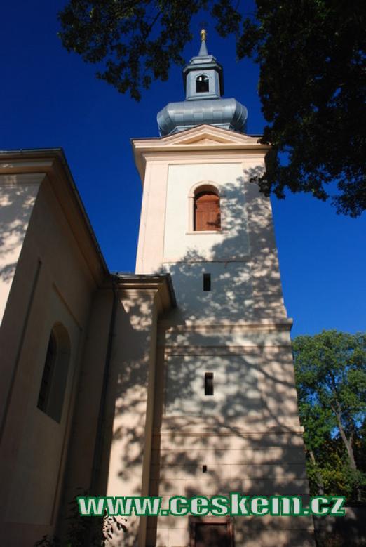Věž kostela sv. Jiljí.