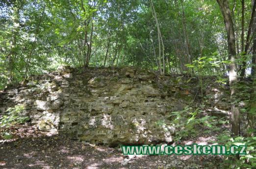 Dávné hradní zdi.