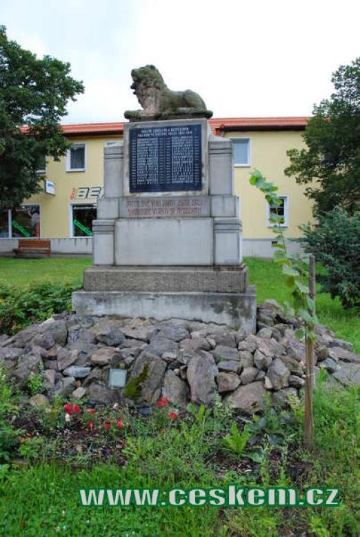 Památník padlým v 1. světové válce.