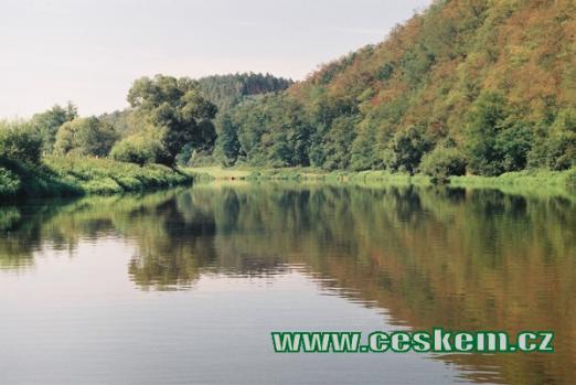Malebná řeka Berounka...
