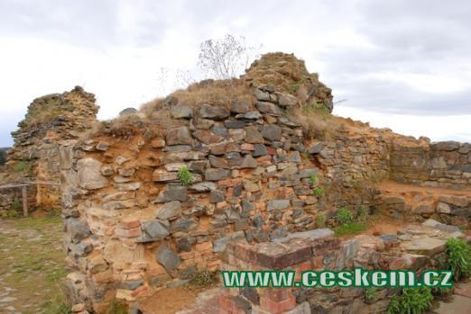 Bývalé první patro hradu.