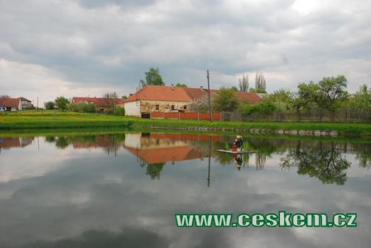 Místní rybník...