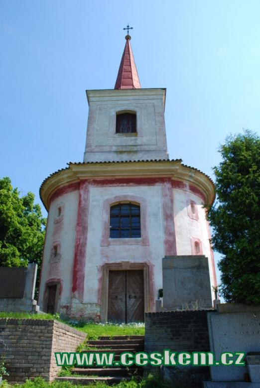 Průčelí kostela sv. Gotharda.